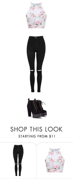 """1"" by styletv ❤ liked on Polyvore featuring Topshop"