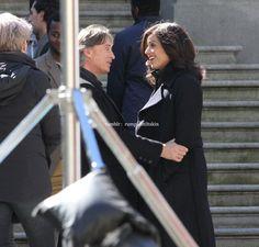 Robert & Lana on set - March 28, 2016