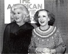 Ginger Rogers and Bette Davis 1982