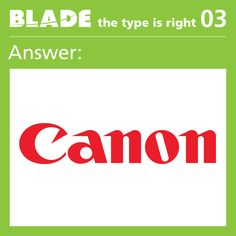 The answer for game 3 was Canon! Congrats to all who got it right!