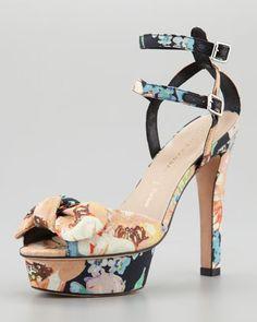 Dahlia Floral Bow Sandal by Loeffler Randall