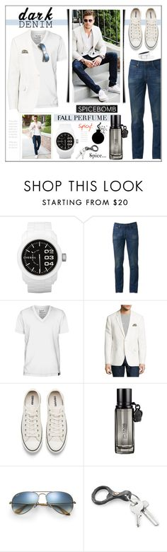 """""""He's A Spice Bomb! ツ #MensFragrance"""" by theseapearl ❤ liked on Polyvore featuring Diesel, Urban Pipeline, Hurley, English Laundry, Converse, Viktor & Rolf, Ray-Ban, NIKE, men's fashion and menswear"""