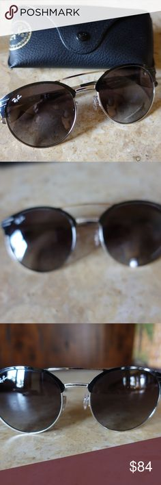 Ray Ban Sunglasses Black/Silver RB3545 Super cute Ray Ban Sunglasses.  Male or Female can wear!  Black with silver accents. Normal wear and tear no major scratches.  Comes with case. Style No.RB3545 9004/11  54 20 145 3N Ray Ban Accessories Sunglasses
