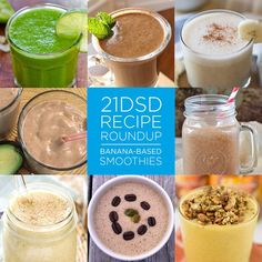 21DSD Recipe Roundup | Banana-Based Smoothies