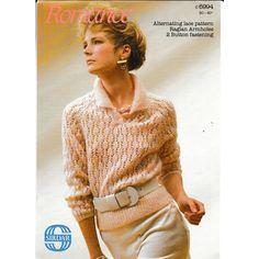 3d1e1a4f4c0f7f Knitting Pattern - Sirdar 6994 - Teen Lady s Raglan Lacy Knit Sweater 30-40