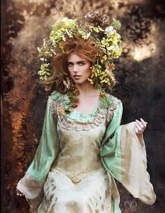 Fairy Fae Elf green and tan inspired costume dress by hhfashions, $190.00