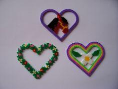 Perler hearts - love the horse one (heart board)