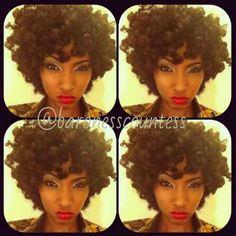 Her Bantu Knot Out >>> done with dry, stretched hair after using Shea Moisture Curl Enhancing Smoothie.. Gorgeous!