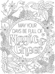 Tage voller Magie Creative Haven Christmas Inspirations Malbuch – Pages To Color - Malvorlagen Mandala Free Adult Coloring, Adult Coloring Book Pages, Coloring For Kids, Coloring Pages For Kids, Coloring Books, Coloring Sheets, Christmas Images To Color, Christmas Pictures, Christmas Colors