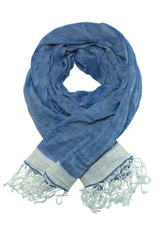 Exclusive #blue #scarf or #shawl in #linen