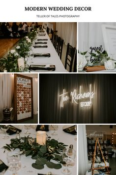 This couple had a timeless and elegant wedding filled with modern decor and greenery. To view more of this wedding visit Teller of Tales Photography. The Wedding Date, Our Wedding Day, Wedding Couples, Timeless Wedding, Elegant Wedding, Outdoor Tent Wedding, Wedding Signage, Wedding Songs, Father Of The Bride