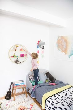 Find out about getting the right timing to switch from toddler crib and more DIY toddler bed ideas which suits your needs. Target Kids Bedding, Target Pillows, Home Decor Bedroom, Kids Bedroom, Modern Bedroom, Bedroom Ideas, Big Girl Rooms, Boy Room, Toddler Platform Bed