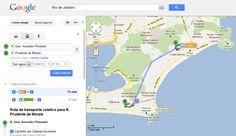Rotas de transporte público de cidades brasileiras no Google Maps