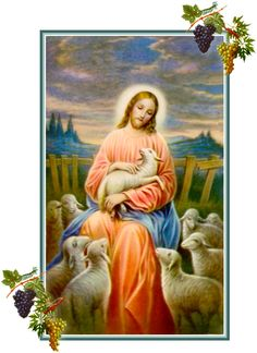 Pictures Of Christ, Religious Pictures, Religious Icons, Religious Art, Christ The Good Shepherd, Good Shepard, Jesus Christ Painting, Jesus E Maria, Good Prayers