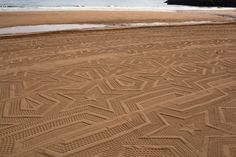 """A Sign in Space"" is an art installation at Spain's Laga Beach by Gunilla Klingberg"
