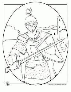 Knights In Shining Armor Coloring Pages