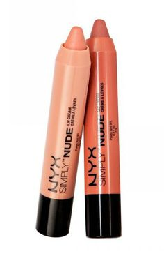 The Best Drugstore Nude Lipstick: Nyx Simply Nude Lip Cream. These handy crayon sticks help enhance your skin tone instead of wash you out because they let a bit of your true natural lip color shine through. All Things Beauty, Beauty Make Up, Hair Beauty, Beauty Tips, Nyx Lipstick, Lipsticks, Natural Lip Colors, Best Eyebrow Products, Makeup Products