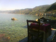 Pedana sul mare. Ristorante Il Pirata UBAIS www.ubais.it