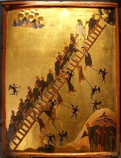 The Ladder of Divine Ascent icon 12th century, St. Catherine's Monastery
