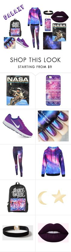 """""""Galaxy Outfit"""" by miathemusician ❤ liked on Polyvore featuring NIKE, Talia Naomi and Dorothy Perkins"""