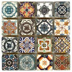 StoneImpressions tiles. Crochet motif potential