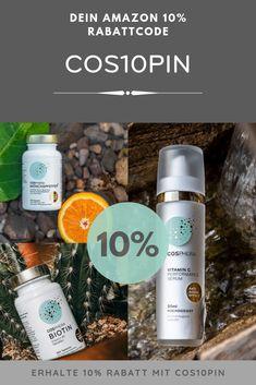 Mit einem exklusiven Rabattcode nur für Pinterest-User bekommst Du 10% Nachlass bei #Amazon.   Cosphera Biotin, Serum, Anti Aging, Online Shopping, Zero Waste, Highlights, Shampoo, Personal Care, Bottle