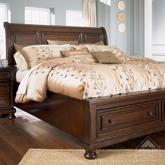 ashley bedroom furniture collections | Ashley Furniture HomeStore - Porter Queen Sleigh Bed | Flickr - Photo ...