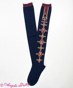 Lolibrary | Angelic Pretty - Socks - Chess Emblem OTKs