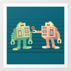 Robots Art Print by Sydney's Doodles - $14.48