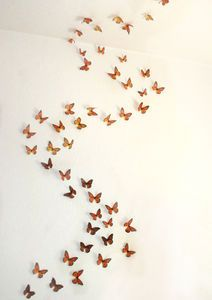 3D Monarch Butterfly Display - wall stickers