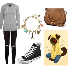 Hanging With Hoodie by littlecat2283 on Polyvore