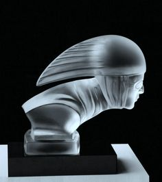 Rare Bohemian Art Deco Glass Car Mascot Hood Ornament #ArtDeco