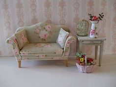 pretty shabby chic dollhouse furniture