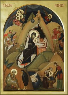 Nativity of Christ – byzantine icon Byzantine Icons, Byzantine Art, Christian Images, Christian Art, Religious Icons, Religious Art, Roman Church, Angel Images, Art Icon