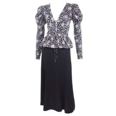 70's Yves Saint Laurent 2 Piece Ensemble   From a collection of rare vintage day dresses at 1stdibs /fashion/clothing/day-dresses/