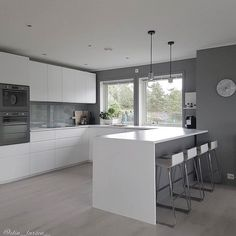 Renovate and relook kitchen shelves - HomeDBS Kitchen Room Design, Modern Kitchen Design, Home Decor Kitchen, Kitchen Layout, Kitchen Interior, Home Kitchens, Farmhouse Kitchens, Old Kitchen Tables, Kitchen Chairs