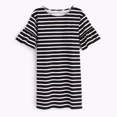Nwt J Crew Ruffled Sleeve Dress Flash Sale