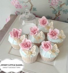 Rose & Butterfly Cupcakes