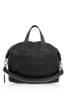 Medium Nightingale bag in black leather by: Givenchy - 18 Classic and Elegant Black Bags for Sophisticated Look Fashion Bags, Fashion Backpack, Fashion Accessories, Leather Accessories, Fashion Women, Sacs Design, Black Tote, Black Bags, Leather Handbags