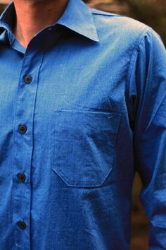 Joe Wenko Men Plaid Long Sleeve Lapel Neck Curved Hem Business Button Down Shirts