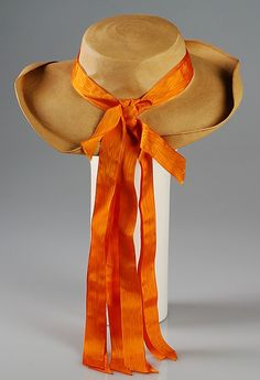 Hat | Elsa Schiaparelli (Italian, 1890-1973) | Date: 1940 | Materials: straw, silk | The Metropolitan Museum of Art, New York