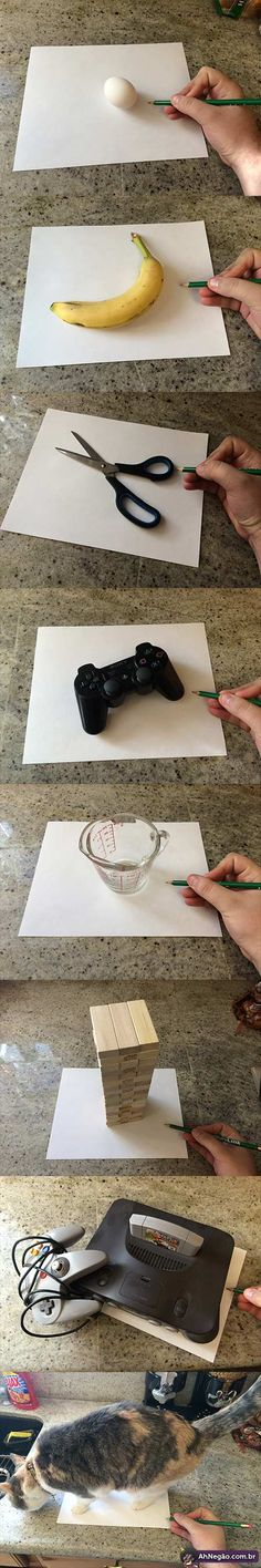 Desenhos ultra realistas em 3D