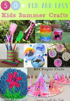50 awesome, quick and easy kids craft ideas for summer kids Summer Crafts For Kids, Crafts For Girls, Summer Kids, Summer Daycare, Summer School, Diy And Crafts Sewing, Crafts To Sell, Arts And Crafts, Diy Crafts