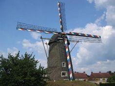 Windmolen te Sint Odiliënberg, Limburg, Nederland