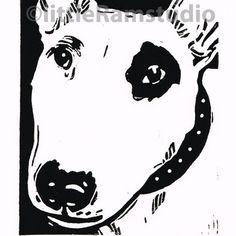 Bull Terrier - Original Hand Pulled Linocut Print £18.00