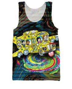 Magic School Bus Acid Trip Tank Top