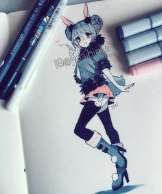 I hope you're all doing well<3 I was able to draw something today at least ;__; copic+ink