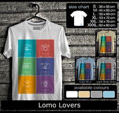 Lomo Lovers    Bahan Cotton Soft Combed.  Harga flat ukuran S,M,L : Rp 85.000,-  Ada biaya tambahan untuk ukuran XL, XXL, dan XXXL.    Pemesanan:  SMS 089631880811 / 85753939709  Email otfit.shop@yahoo.com