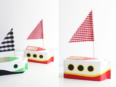These milk carton boats are simple and cute for summer.