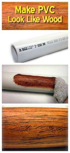 Make PVC Look Like Wood #woodworkingideas #WoodworkCrafting #woodworkingplans #woodworkingtips